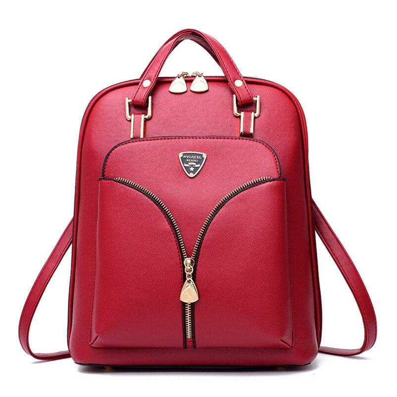 Nevenka Anti Theft Leather Backpack Women Mini Backpacks Female Travel Backpack for Girls School Backpacks Ladies Black Bag 201803