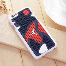New 3D Air Jordan Shoe Sole PVC+Rubber Case For iPhone6/iPhone6s, AJ jumpman Back Cover Phone Cases,6 Patterns, Free Shipping(China)