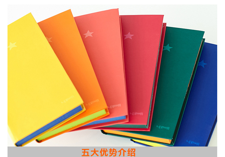 Solid color notebook blank journal/business/small thick Notepad /2017 new trial<br><br>Aliexpress