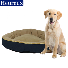 Heureux round dog bed for small and meduim dogs winter use pet bed pink color thick dog mat with bone picture cat bed(China)