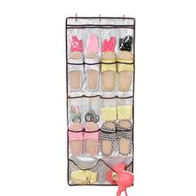 18 Pocket Shoe Space Door Hanging Organizer Storage Silver Bag Closet Holder