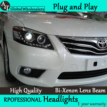 A&T Car Styling for Toyota Camry Headlights 2009-2011 LED Headlight DRL Lens Double Beam H7 HID Xenon bi xenon lens
