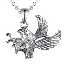 2016 new design silver eagle pendant necklace fashion jewelry birthday gift for woman good quality Factory Outlet