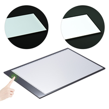 Portable A4 LED Light Box Drawing Tracing Tracer Copy Board Table Pad Panel Copy board with Stepless Function Brightness Control