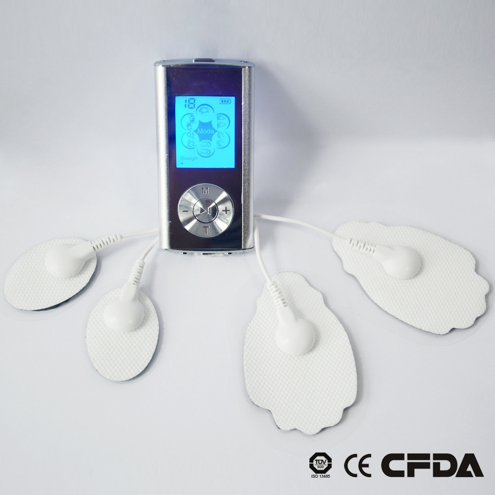 Tens Acupuncture Digital Therapy Machine Massager Basic Edition (4 Pads) Muscle Therapy Massager LCD luminous<br>