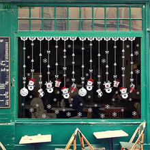 2017 Time-limited Vinilos Paredes Removable Christmas Snowman Window Decoration Stickers Wall Decor For Kids Best Gift Sticker(China)