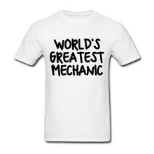 Round Collar T-Shirt Shirt Mens Designing Worlds Greatest Mechanic T Shirt Man New High Quality Graphic Top Tee