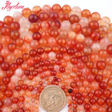 "2/4/6/8/10/12mm Round Multicolor Red Carnelian Beads Spacer Strand 15""For DIY Necklace Bracelet Jewelry Making Free Shipping"