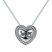 7 Kinds DIY Wearing Compatible Jewelry Happy 925 Sterling Silver Heart Pendant Necklaces Women Multifunctional Jewelry