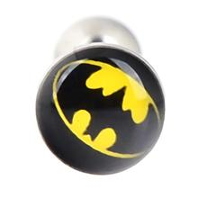 1Pc Superman or Batman Tongue Bar Barbell 316L Surgical Steel 14g Free