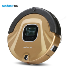 Seebest C565 As Seen On TV Robot Vacuum Cleaner Anti Collision Anti Fall,LCD Screen,HEPA Filter,Auto Clean(China)