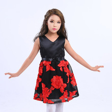 Mitun new girl dress and European and American Princess Dress Dress christmas new year children's wear factory direct sales