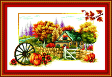 Spring summer 4 seasons cross stitch kit lanscape stamped 18ct 14ct 11ct hand embroidery DIY handmade needlework supplies bag