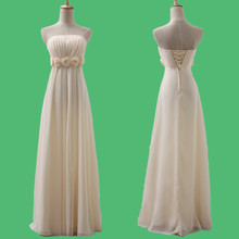 Bridesmaid Dresses Champagne Real Sample Tube Top Chiffon Custom Made Long Party Dress Bridesmaid Dresses Plus Size XXXL