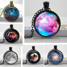 Galaxy Necklace Nebula Jewelry Orion Universe Pendant Gifts For Men Art Photo Glass Cabochon Necklaces Nebula Galaxy HZ1
