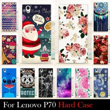 For LENOVO P70 P70-T  5.0 inch Case Hard Plastic Mobile Phone Cover Case DIY Color Paitn Cellphone Bag Shell  Shipping Free