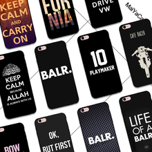 Black tpu silicone LIFE of A BALR Playmaker keep calm California coffee bow phone Accessories For case iPhone5s 6s 6splus 7plus