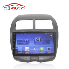 "Bway 10.2"" Quad core car radio gps navi for Mitsubishi ASX 2010-2012 android 6.0 car DVD video player with Wifi,BT,SWC,DVR"