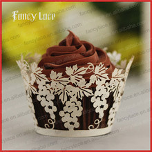 60PCS Artificial Paper Laser Cutting Cupcake Cups Grape Design Liners Handcraft Wedding Favor Birthday Party Cake Decorations(China)