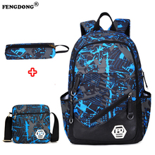 FengDong Male Backpack for Teenagers Boy School Bags Children Waterproof Oxford USB Charge Design Bag Boy Backpack Schoolbag
