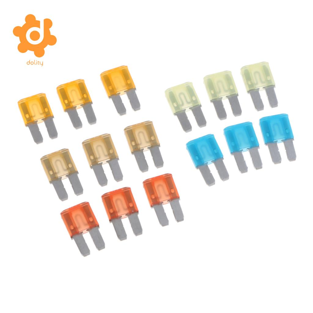 CAR CAMPER CARAVAN VAN NEW 10 x Mini Blade Fuses 15A 15 Amp BLUE 11mm x 15mm