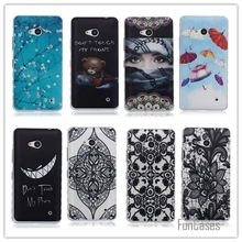 Flower Soft Silicon TPU For Microsoft Nokia Lumia 640 N640 TPU Case Cover Soft Cases