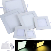AC85-265V ultra-thin led square panel light 3W Home Furnishing decorative light white and warm white optional