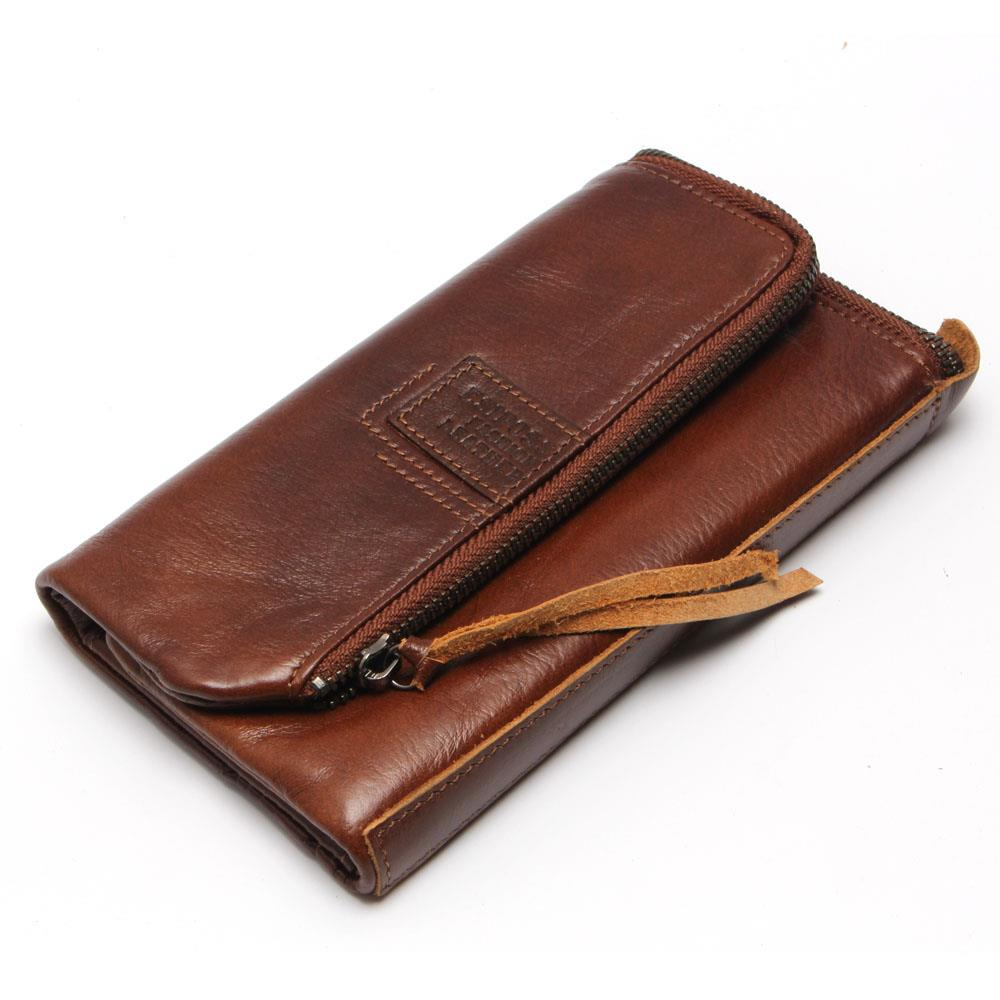 Genuine Leather Men Wallets Hasp Zipper Business Male Wallet Fashion Purse Cases Card Holder 3 Fold Men Purse Leather<br><br>Aliexpress