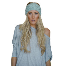 2016 New Fashion Ladies Knitted Accessory Winter Warm stretch Turban Soft Knit Headband Beanie Crochet Headwrap Women Hair(China)