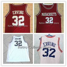 #32 JULIUS ERVING ABA EAST Retro throwback Basketball Jersey White Embroidery Shirt Custom any Number ,Name and Size XXS-6XL