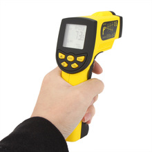 HoldPeak HP-1300 Infrared IR Thermometer Non-contact 16:1Laser Temperature Gun Temperature gauge Sensor Meter Range -50~1300C(China)