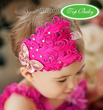 feather  headband girls' hairbands Christmas hair tie Head bands Hair Accessories  20pcs FASHION-08