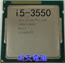 lntel CPU I5-3550 quad core 1155 pin I5 3550 CPU central processor cpu cooler i5 3550 can work