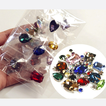 High Quality 40pcs Mix color Mix Size strass para artesana Sewing Flatback Rhinestone Sew On Strass Crystals Stone For Clothes