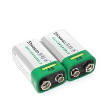 2pcs/lot Etinesan 250mAh 9v nimh Rechargeable 9 Volt Ni-MH Batteries long lasting(China)