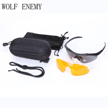 New Model Brand Lens Full Package TR90 Tactical Goggles Men Sunglasses Eyewear Outdoor Cross Army Gafas Sports Glasses Vole(China)