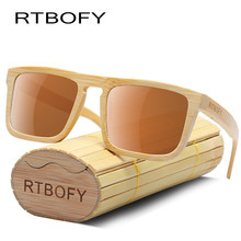 RTBOFY Polarizada óculos de Sol De Bambu De Madeira Feitos À Mão Design  Para Homens Mulheres 100% de Proteção UV Óculos Óculos C.. 283717323b