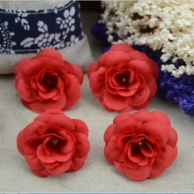 20pcs/lot 4cm Rose Artificial Silk Flower Heads Small Tea Bud For Wedding Decoration Flowers Headmade Scrapbooking Accessories