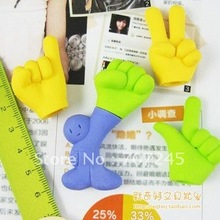 Free ship!!1lot=18set!!finger gestures eraser/Funny 3D shaped rubber eraser/student prizes