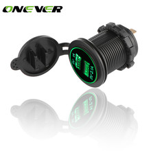 Onever LED Car 3.1A Dual USB Socket Charger Power Adapter Outlet Power 12-24V Modification Accessory for Auto Truck ATV Boat(China)