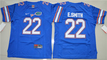 Nike Youth Jerseys Florida Gators E.Smith 22 College Ice Hockey Jerseys - Royal Blue Size S,M,L,XL(China)