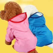 2017 high quality dog rain poncho clothes raincoat chihuahua Poodle small dog accessories waterproof rain coat legs D95