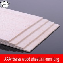 AAA+Balsa Wood Sheet ply 330mmX100mmX1mm 10 pcs/lot super quality for airplane/boat model DIY free shipping