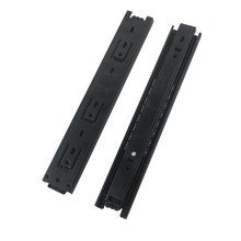 2pcs 15inch Drawer Sliding Rail 40mm Width Black Cold-Rolled Steel Fold Telescopic Ball Bearing Drawer Cabinet Slides Runner