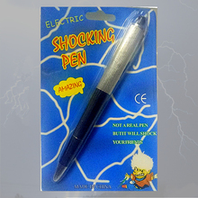 100% Bal pen Shocking Elektrische  Funny Electric Shock Joke Prank Trick Fun Novelty Gift