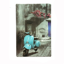 HZ065 Blue Vespa Vintage metal painting retro metal tin sign 20cm*30cm art posters wall stickers home cafe bar pub wall decor