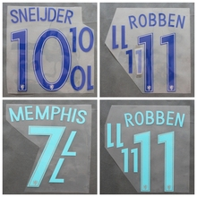 2016 2017 Netherlands V.PERSIE MEMPHIS SNEIJDER ROBBEN custom football number font print , Hot stamping Soccer patches badges