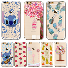 TPU Cover For Apple iPhone 4 4S 5 5S SE 5C 6 6S Plus 6SPlus 7 7+ Cases Shell Painted Cute Mouse Music Note Nice Cage Exquisite