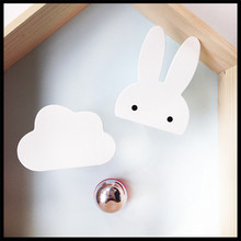 Free shipping INS 2 style Clouds Black and white wooden Hooks On Wall In Children's Room Decoration(China)