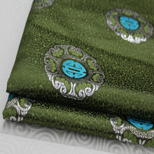 CF110 1yard Purl Green Fabric Chinese Style Brocade Jacquard Fabric For Men Dress Fabric DIY Fabric For Chinese Dress Clothing(China)